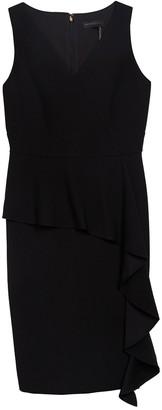 DKNY Ruffle Peplum Trim Sleeveless Dress