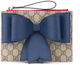 Gucci Kids - bow detail clutch - kids - Leather - One Size