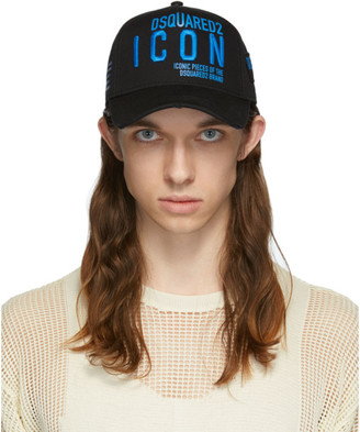 DSQUARED2 Black and Blue Icon Cap