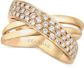 LeVian Le Vian® Diamond Crisscross Ring (1/2 ct. t.w.) in 14k Gold