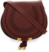 Chloé Marcie Small Leather Crossbody Bag, Bordeaux