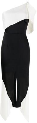 Roland Mouret Harlow colour block asymmetric dress
