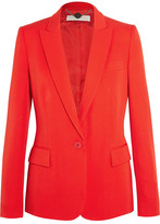 Stella McCartney Iris Wool-crepe Blazer - Tomato red