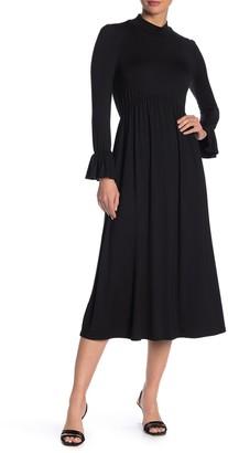 Rachel Pally Amala Ruffle Cuff Knit Midi Dress