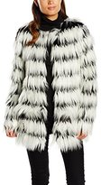 Noisy May Women's Duo Fake Fur Long Sleeve Coat
