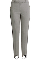 Nina Ricci Hound's-tooth cotton and silk-blend trousers