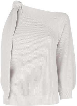 Brunello Cucinelli knit one sleeve sweater