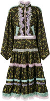 Natasha Zinko lace trim camouflage dress - women - Cotton - 36