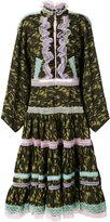 Natasha Zinko lace trim camouflage dress - women - Cotton - 38