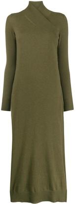Agnona Wrap-Neck Knitted Dress