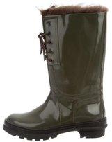 Brunello Cucinelli Fur-Trimmed Rain Boots