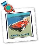 3dRose LLC qs_173891_10 Florene - Vintage Sports - image of french racing car - Quilt Squares