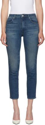 Amo Blue High-Rise Stix Crop Jeans