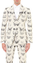 Alexander Mcqueen Moth-jacquard Wool And Cotton-blend Jacket