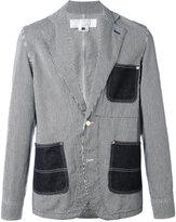 Comme des Garcons striped denim jacket