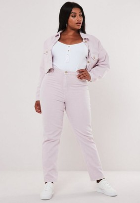 Missguided Plus Size Blush Co Ord Wrath High Waisted Jeans
