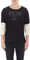 "R 13 Men's ""New York City\"" Layered T-Shirt-Black Size L"