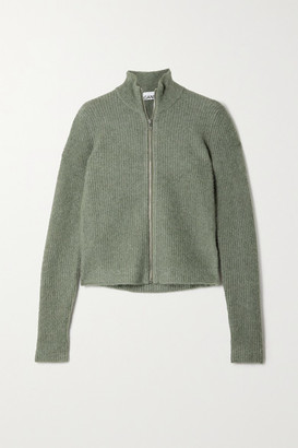 Ganni Ribbed-knit Sweater - Army green