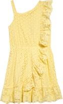 BCBGMAXAZRIA Girls Girl Eyelet Embroidered Ruffle Dress