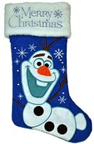"Disney Frozen Olaf ""Merry Christmas"" holiday stocking - blue"