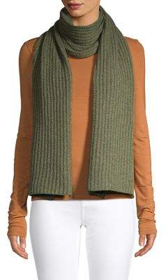 Lord & Taylor Chunky Cashmere Rib Knit Scarf