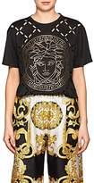 Versace Women's Logo Cutout Cotton T-Shirt