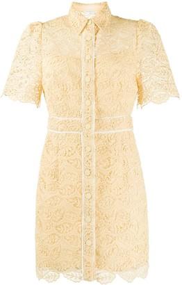 Sandro Paris Mini Lace Shirt Dress