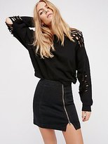Free People This Way Or That Mini Skirt