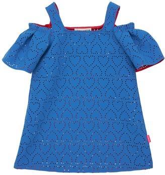 Simonetta Hearts Lasered Double Crepe Dress