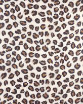 Jaeger Wool Silk Leopard Print Scarf
