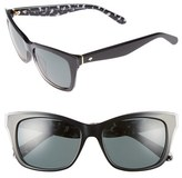Kate Spade Women's Jenae 53Mm Polarized Sunglasses - Black/ Cream/ Transparent