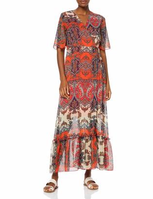 Find. Amazon Brand Women's Maxi Chiffon Wrap Dress