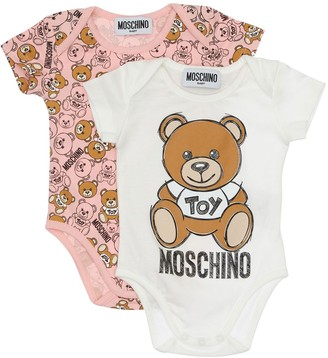 Moschino Set Of 2 Cotton Jersey Bodysuits