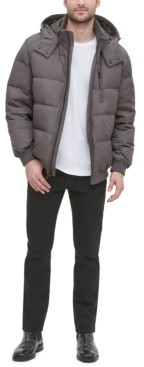 Cole Haan Men's Soft Touch Hooded Bomber Puffer Jacket