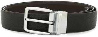 Cerruti Silver-Tone Buckle Belt