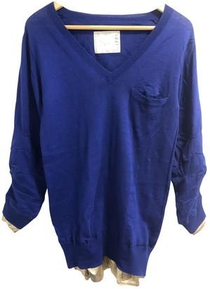 Sacai Blue Cotton Knitwear for Women