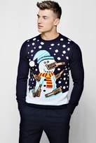 Drunk Snowman Christmas Jumper