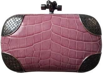 Bottega Veneta Pochette Knot Pink Crocodile Clutch bags