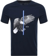Armani Exchange Crew Neck Eagle T Shirt Navy