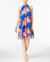 INC International Concepts Floral-Print Trapeze Dress, Only at Macy's