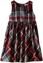 Dolce & Gabbana Back to School Quadricheck Tartan Dress (Toddler/Little Kids)