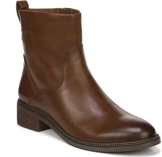 Franco Sarto Leather Block Heel Booties - Brindle