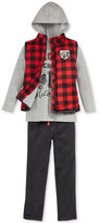 Nannette Little Boys' 3-Pc. Vest, Hoodie & Pants Set
