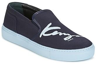Kenzo K-SKATE SLIP-ON women's Slip-ons (Shoes) in Blue