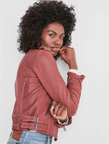 Lucky Brand Washed Leather Moto Jacket