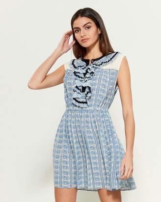 Philosophy di Lorenzo Serafini Paisley Print Sleeveless Fit & Flare Dress