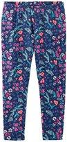 Osh Kosh Overall Print Leggings - Floral - 4