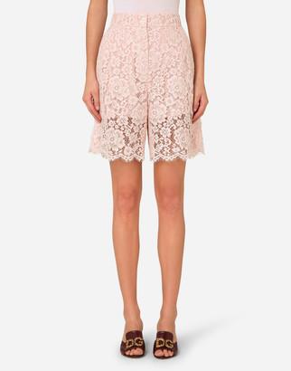 Dolce & Gabbana High-Waisted Lace Shorts