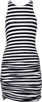 Striped stretch-jersey tank dress