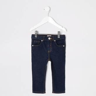 River Island Mini boys Sid dark denim skinny jeans